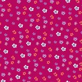 Seamless floral pattern with flowers of sakura stock illustration