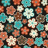 Seamless floral pattern. Flowers texture. Daisy. Stock Images