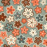 Seamless floral pattern. Flowers texture. Daisy. Stock Image