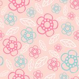 Seamless floral pattern. Flowers texture. Daisy. Royalty Free Stock Photos