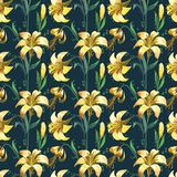 Seamless floral pattern with flowers Stock Photography