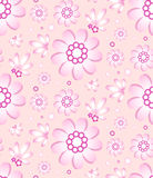 Seamless floral pattern in gentle pink color Stock Photography