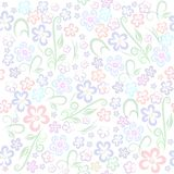 Seamless floral pattern gentle tone pastel light childish stock illustration