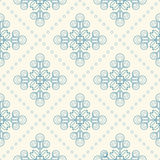 Seamless floral pattern, geometric flowers Stock Image