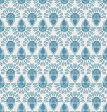 Seamless floral pattern with geometric stylized flowers. Royalty Free Stock Images