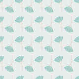 Seamless floral pattern with geometric stylized flowers. Stock Image