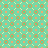 Seamless floral pattern with geometric stylized flowers. Stock Photos