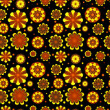 Seamless floral pattern with geometric stylized flowers. Stock Images