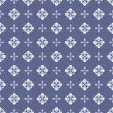 Seamless floral pattern with geometric stylized flowers. Royalty Free Stock Photos