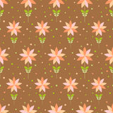 Seamless floral pattern with geometric stylized flowers. Royalty Free Stock Photo