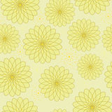 Seamless floral pattern with geometric stylized flowers. Royalty Free Stock Photography