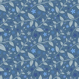 Seamless floral pattern with geometric stylized leaves and flowers. Stock Photos