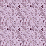 Seamless floral pattern with geometric stylized leaves and flowers. Stock Photography