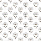 Seamless floral pattern geometrical hand drawn abstract flowers, allover print, beige light brown tones, graphic, textile, gift wr Stock Photos