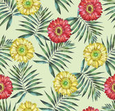 Seamless floral pattern with gerbera Royalty Free Stock Photos