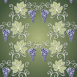Seamless Floral Pattern with Grape Stock Image