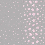 Seamless floral pattern on a gray background. Seamless floral pattern with pink flowers on a gray background. Illustration Stock Illustration