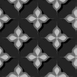 Seamless floral pattern. Gray 3d designs. Vector illustration Stock Illustration