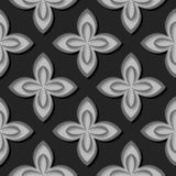 Seamless floral pattern. Gray 3d designs. Vector illustration royalty free illustration