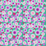 Seamless floral pattern on a green background Royalty Free Stock Photography