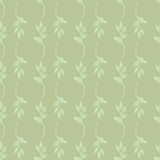 Seamless floral pattern. On a green background Stock Image