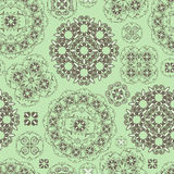 Seamless floral pattern in green  and brown Stock Image