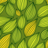 Seamless floral pattern, green leaves background Stock Photography