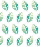 Seamless floral pattern with green leaves Stock Image