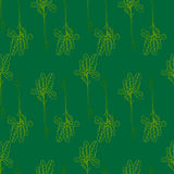 Seamless floral pattern, green and summer seasonal vector background. Stock Photos