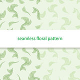 Seamless floral pattern green. Seamless floral pattern on a white background. Set of 2 green colors Stock Illustration