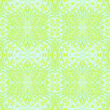 Seamless floral pattern green yellow Stock Photo