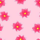 Seamless floral pattern of grunge. Vector illustration Stock Photo
