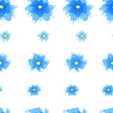 Seamless floral pattern of grunge. Vector illustration Royalty Free Stock Photography