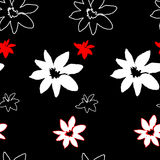 Seamless floral pattern of grunge. Vector illustration Stock Image