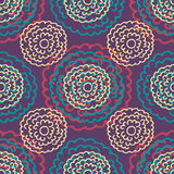 Seamless floral pattern with hand drawn flowers. Royalty Free Stock Images