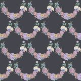 Seamless floral pattern. Hand drawn illustration for fabric, wrapping, prints, cards, wedding design in vintage style. Seamless floral pattern, colorful flowers Stock Photography