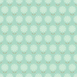 Seamless floral pattern with hand drawn stylized flowers. Stock Images