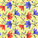 Seamless Floral  pattern 2 Stock Photos
