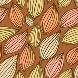 Seamless floral pattern, hand drawn, vector. Stock Photos