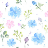 Seamless floral pattern. Hand drawn watercolor seamless floral pattern Stock Photo