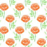 Seamless floral pattern. Hand painted rose flowers.  Graphic element for baby shower or wedding invitations, birthday card, printables, wallpaper, scrapbooking Royalty Free Stock Photo