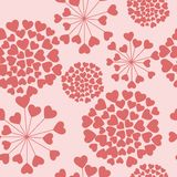 Seamless floral pattern with hearts. Eps 10 Stock Photography