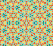 Seamless floral pattern of hearts Royalty Free Stock Photography