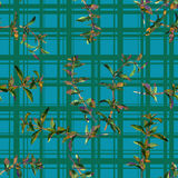 Seamless floral pattern herbs Royalty Free Stock Photos