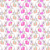 Seamless floral pattern hibiscus. Stock Photography