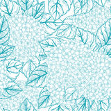Seamless floral pattern with  hydrangeas Royalty Free Stock Photos