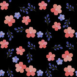 Seamless floral pattern. Ideal for the design of packaging, postcards, textiles Stock Images
