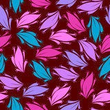 Seamless floral pattern - Illustration. Whole standard with the abstract leaves of different color Royalty Free Stock Images