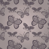 Seamless Floral Pattern with Insects (Vector) Stock Photography