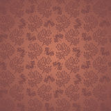Seamless Floral Pattern with Insects (Vector) Royalty Free Stock Photos